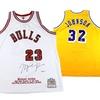 NBA Greats Autographed Jerseys