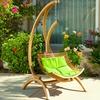 Hendrick Outdoor Hanging Wooden Chair Swing