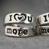 I Love You More/Most Hand-Stamped Rings