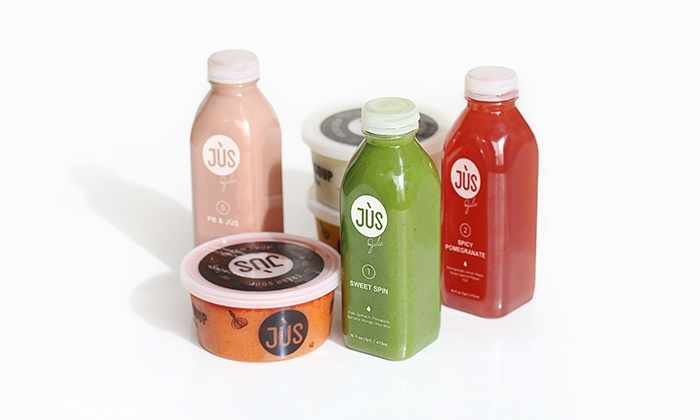 Three Day Soup/Juice Cleanse from Jus By Julie (Up to 52% Off)