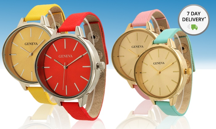 Women's Petite Genuine-Leather Watches: Women's Petite Genuine-Leather Watches. Multiple Styles Available. Free Returns.