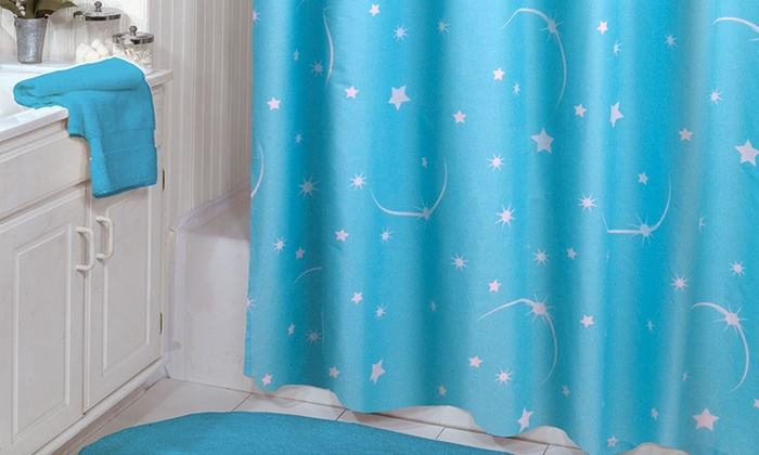 dark teal shower curtain.  Glow in the Dark Shower Curtains Groupon Goods