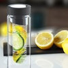 2 Flavour It Glass Fruit-Infuser Water Bottles