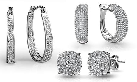 Fino a 3 paia di orecchini pavé con cristalli Philip Jones disponibili in vari modelli