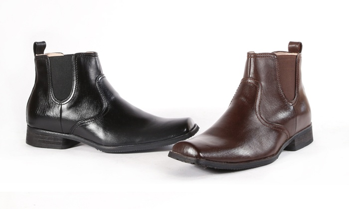 Giraldi Men's Dress Boots: Giraldi Men's Tyrone Dress Boots in Black or Brown. Free Returns.