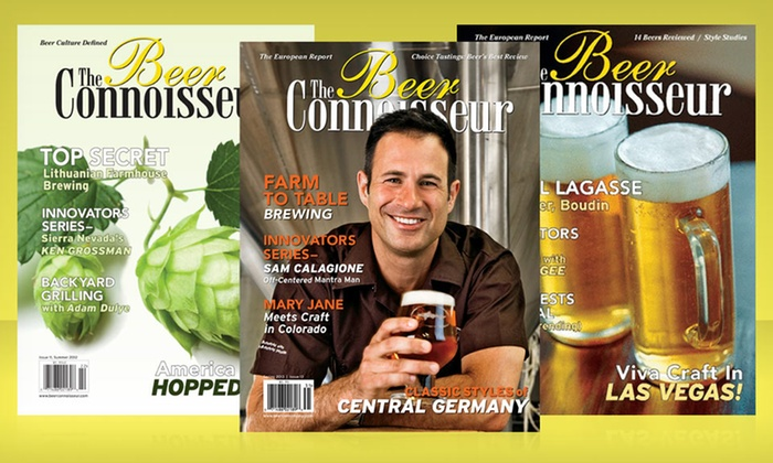 The Beer Connoisseur Magazine: $18 for a 2-Year The Beer Connoisseur Magazine Subscription with All-Access Online Membership ($38 List Price)