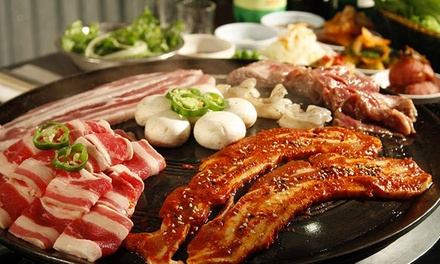 Korean Food at Honey Pig Gooldaegee Korean Grill (Up to 43% Off) .Two Options Available.