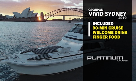 90-Min Vivid Cruise + Snacks & Welcome Drink for Child 5-15 ($29) or Adult ($49) with Platinum Cruises (Up to $89 Value)