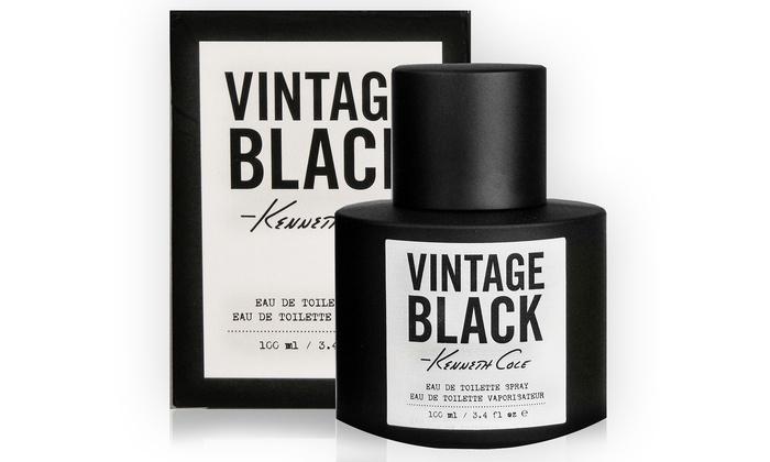 Kenneth Cole Vintage Black Eau de Toilette Spray for Men: Kenneth Cole Vintage Black Eau de Toilette Spray for Men; 3.4 Fl. Oz.