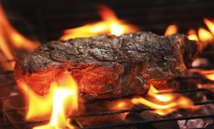 Grill 'Em Steakhouse and Bar: Grill-It-Yourself Steak Dinner for Two or Breakfast or Lunch at Grill 'Em Steakhouse and Bar (Up to 40% Off)