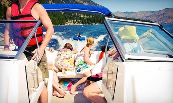 Boomerang Boat Club - Hickory Creek: Five-Hour Ski-Boat or Pontoon/Deck-Boat Rental from Boomerang Boat Club (60% Off)
