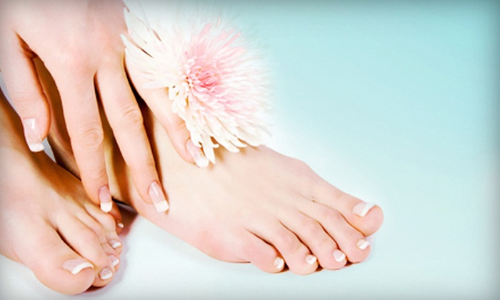 Red Carpet Nails - Raleigh West: Aromatherapy Pedi and Gel-Polish Mani with Paraffin Hand Treatment or Facial at Red Carpet Nails (Up to 52% Off)
