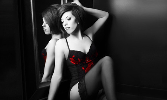 Glamour Shots - Multiple Locations: Boudoir Photo-Shoot Package with Hair and Makeup Styling or $19 for $100 Worth of Photo Sessions and Portraits
