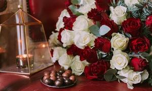 Les Fleurs de Nicolas: Bouquets de roses, sapin et eucalyptus, option billes de chocolat dès 24,90 € avec Les Fleurs de Nicolas