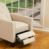 Santino Beige Fabric Recliner Chair