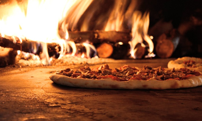 The Rock Wood Fired Pizza - Multiple Locations: Pizzeria Food at The Rock Wood Fired Pizza (Up to 54% Off). Four Options Available.