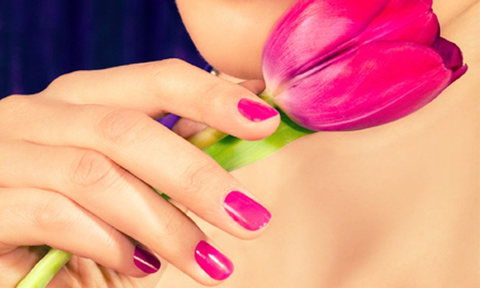 Options Hairstyling Inc. - Chesapeake: Shellac Manicure, Airbrush Tan, or Women's Haircut with Brow or Lip Wax at Options Hairstyling Inc. (Up to 53% Off)