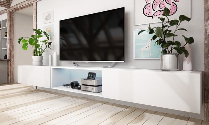 Tv Meubel 300 Cm.Tot 57 Op Tv Meubel Met Led Verlichting Groupon Producten
