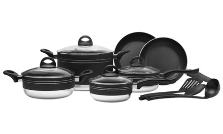 13-Piece Nonstick Aluminum Cookware Set