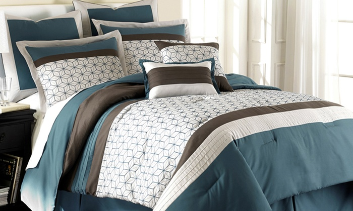8-Piece Embroidered/Embellished Comforter Sets: $69.99 for a CHT Home Collection Comforter Set (Up to a $249.99 List Price). Multiple Styles. Free Shipping & Returns
