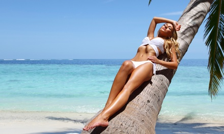 One or Three Custom Spray Tans at Glam Bar Express @ Bloom Wellness Lounge (Up to 54% Off)