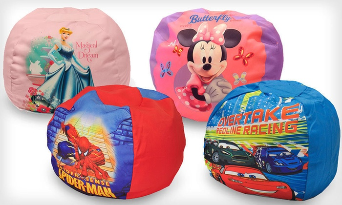 Kids' Cartoon Beanbag Chair: $19 for a Cartoon-Character Beanbag Chair ($49.99 List Price). Four Designs Available. Free Shipping.