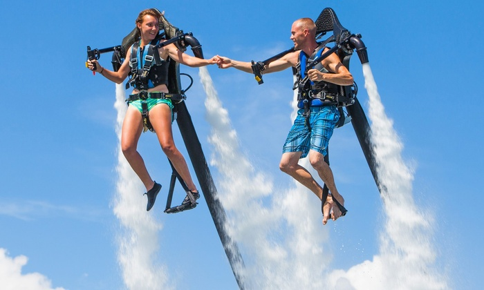 Jetpack America - Multiple Locations: Two-Hour Jetpack-Flight Lesson for 1, 2, or 4 with 15 or 25 Minutes of Flying at Jetpack America (Up to 55% Off)
