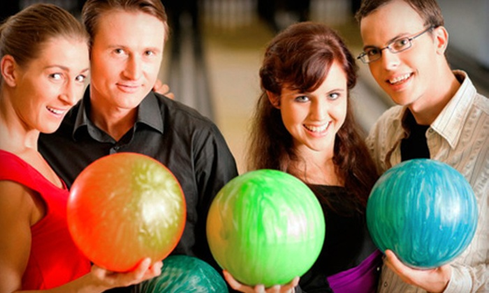 Spare Time & Bradley Bowl - Multiple Locations: Two Games of Bowling and Shoe Rental for Two or Four at Holiday Bowl (Half Off)