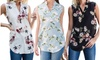 Reflection Women's Printed Sleeveless Blouse. Plus Sizes Available.