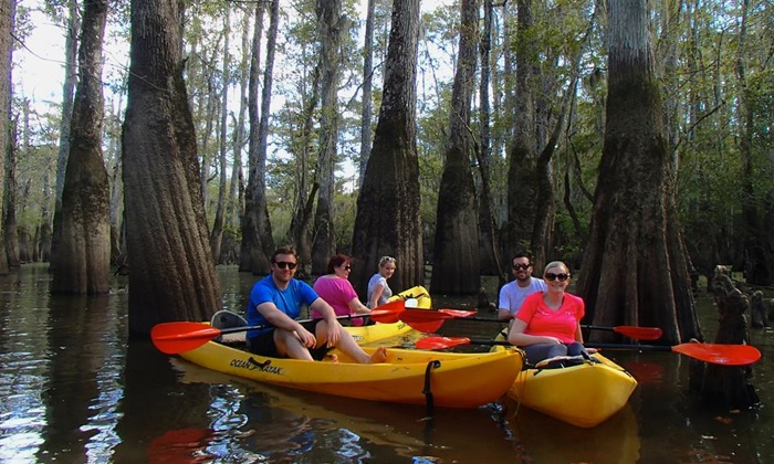 Gravity Trails Swamp Kayak Tours - Pearl River: 2.5-Hour Swamp Tour via Kayak with Photos for Two or Four from Gravity Trails (Up to 54% Off)