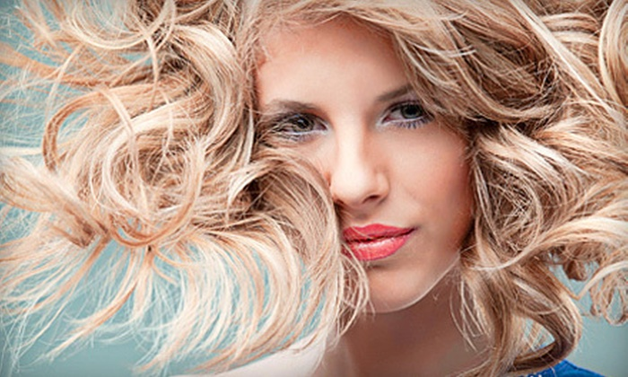 Plush Hair Lounge - Depot Bench: Haircut, Wash, and Style with Optional Full or Partial Highlights at Plush Hair Lounge (Up to 57% Off)