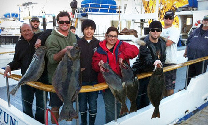 Dana Wharf Sportfishing - Dana Point: Five- or Nine-Hour Fishing Trip with Food Voucher from Dana Wharf Sportfishing (Up to 51% Off)