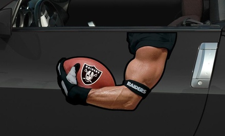 NFL Driver's Arm Car Magnet. Multiple Teams Available. Free Returns.
