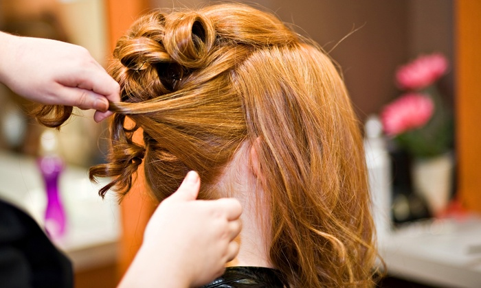 Hair Design by Jenny - Irvine Business Complex: Formal Updo or Haircut, Conditioning, and Optional Highlights or Color at Hair Design by Jenny (Up to 69% Off)