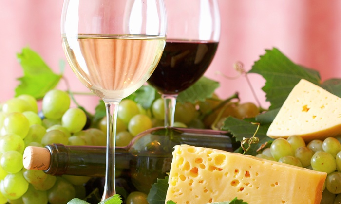 60-minute wine education class with food pairing for two