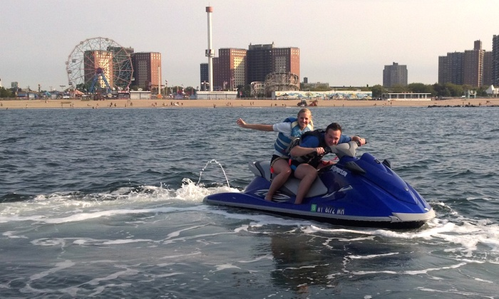 Jetty Jumpers - Southern Brooklyn: Jet-Ski Ride for One or Two or a Three-Hour Coney Island Tour from Jetty Jumpers (Up to 49% Off)