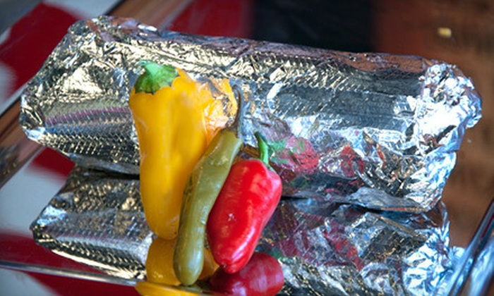 Bad Azz Burrito - Multiple Locations: 5 or 10 Burrito Punch Cards, or $5 for $10 Worth of Mexican Fare at Bad Azz Burrito (Up to 58% Off)