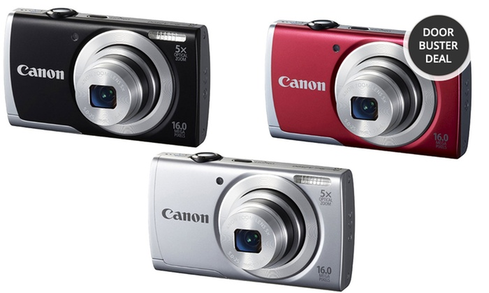 Canon PowerShot 16MP Digital Camera with 5x Optical Zoom (A2500): Canon PowerShot 16MP Digital Camera with Optional Accessories. Multiple Bundles from $79.99–$99.99. Free Returns.