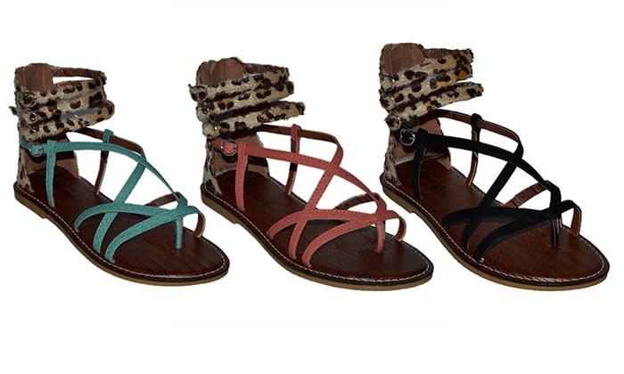 a2e10650c Lollipop Women s Swirl Gladiator Sandals