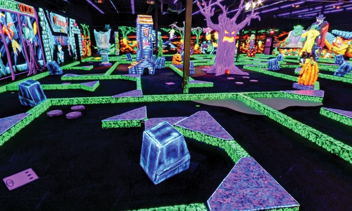 Monster Mini Golf - Paramus: $18 for Four Rounds of Indoor Miniature Golf at Monster Mini Golf (Up to $39.96 Value)