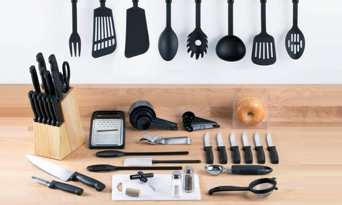 Chefman 51-Piece Cutlery & Kitchen Gadget Starter Set: $29.99 for a Chefman 51-Piece Cutlery & Kitchen Gadget Starter Set ($113.84 List Price). Free Shipping and Returns.