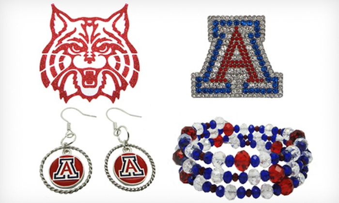 LaDiva Sport: Women's College-Sports-Themed Stickers, Jewelry, and Accessories from LaDiva Sport (Half Off). Two Options Available.