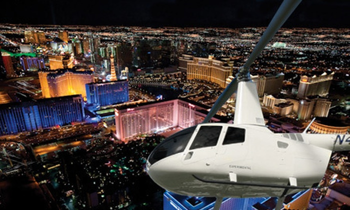 702 Helicopters - North Las Vegas: Nighttime Helicopter Tour of the Strip for One or Three from 702 Helicopters (Up to 66% Off)