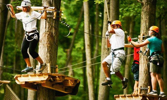 Treetop Trekking by Arbraska - Huntsville: $32 for Three Hours of Aerial Ropes and Ziplining from Treetop Trekking by Arbraska ($69 Value)