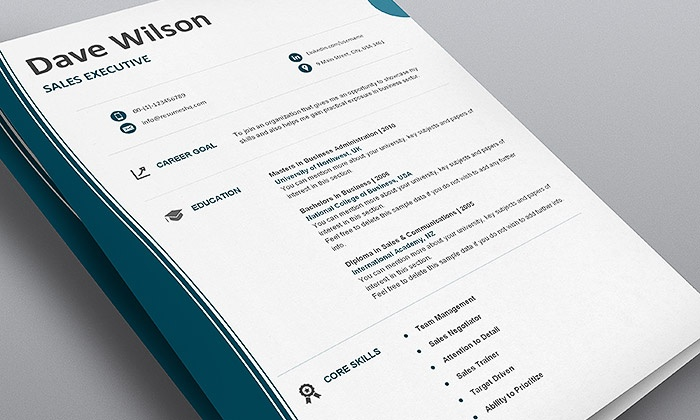 Perfect ResumesHQ: 11 Designer Resume Templates + 30 Day Planner Template + Job  Hunt Tracking ... Regarding Groupon Resume