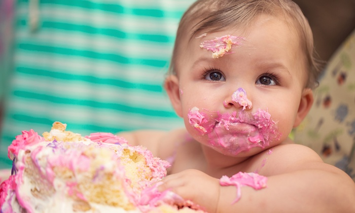 Baby cake smash photoshoot