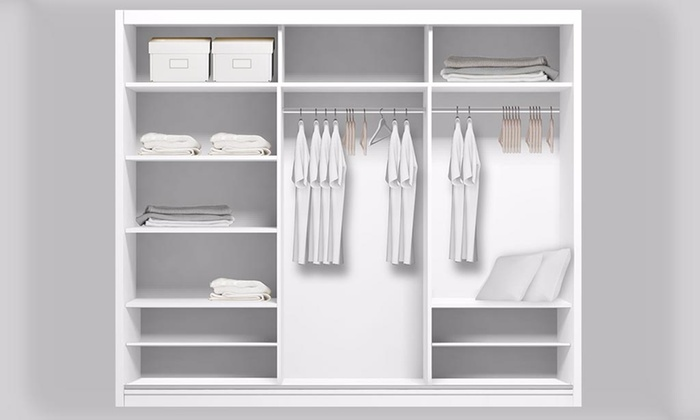 Free standing wardrobe Closet Wardrobe With Choice Of Leds Groupon Wardrobe With Choice Of Leds Groupon