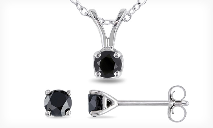 Black-Diamond Pendant-and-Earrings Set: $59.99 for a 1/2-Carat Black-Diamond Pendant-and-Earrings Set ($300 List Price). Free Shipping and Free Returns.