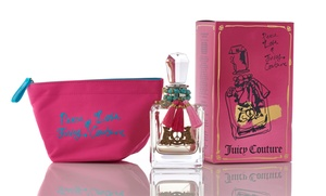 Peace, Love & Juicy Couture Eau De Parfum + A Colorful Cosmetics Bag