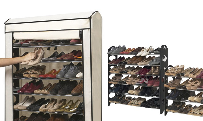 Meuble chaussures 50 paires groupon - Meuble chaussure 50 paires ...